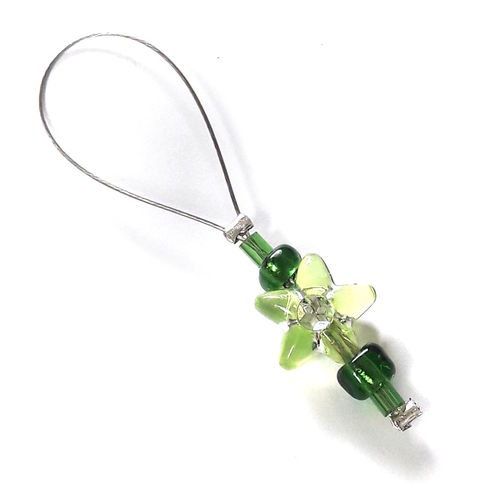 Stitch Marker: Flower green