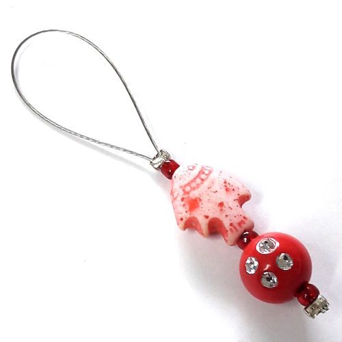 Stitch Marker: Fish red