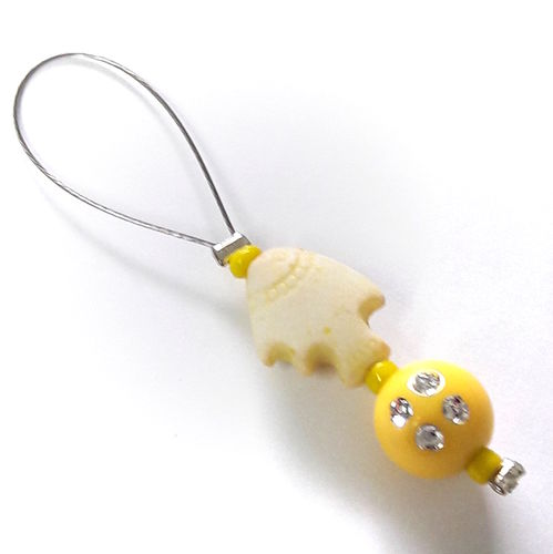 Stitch Marker: Fish yellow