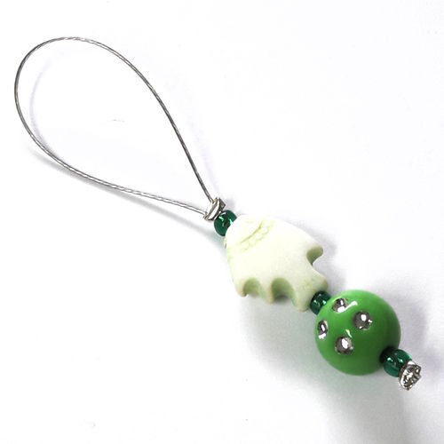 Stitch Marker: Fish green