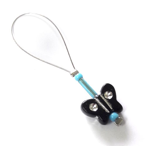 Stitch Marker: Butterfly black-blue