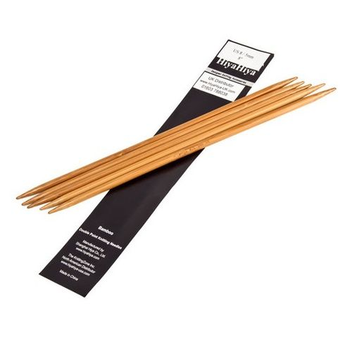 Bamboo DPNs - 3.75mm (US5) / 15cm (6'')