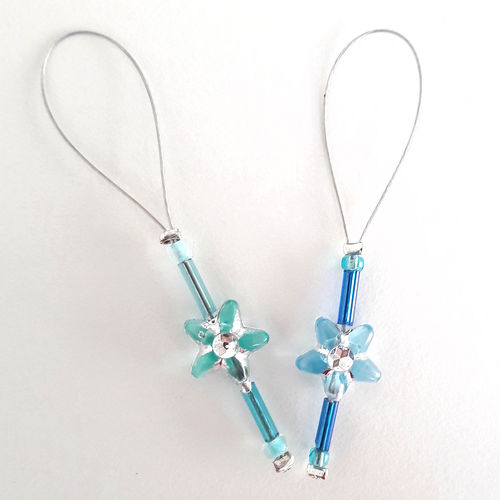 Stitch Marker Set: Frost Flowers