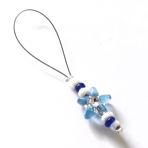Stitch Marker: Flower blue