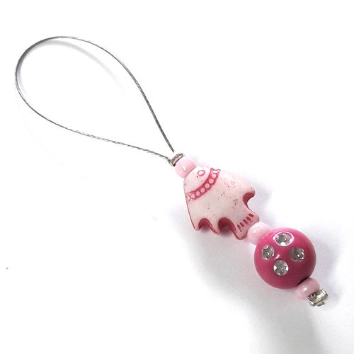 Stitch Marker: Fish pink