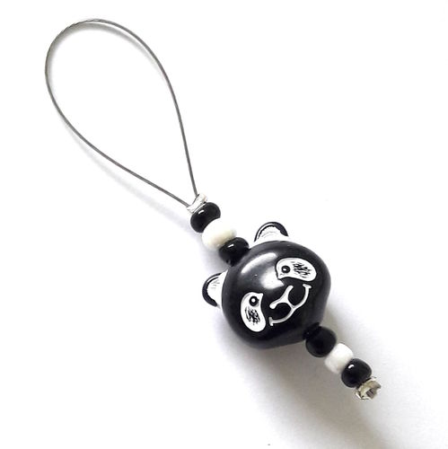 Stitch Marker: Panda black-white