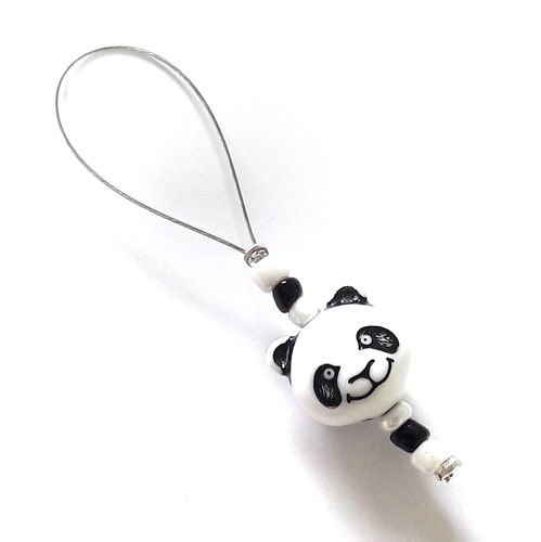 Stitch Marker: Panda white-black