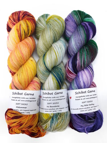Soft Socks TRIO: Midsummer, No Boundaries, My little Darling