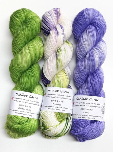 Soft Socks TRIO: Garden Party, Provence, Lovely