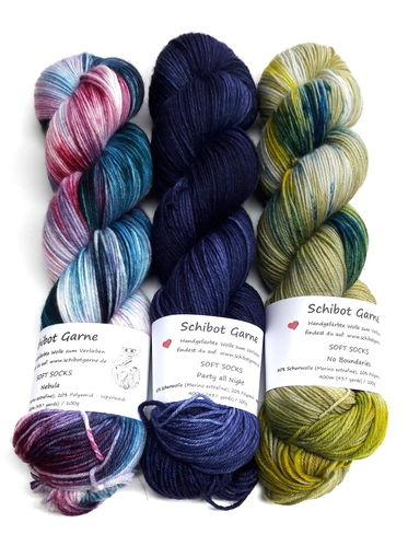 Soft Socks TRIO: Nebula, Party All Night, No Boundaries